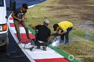 F1ポルトガルGP フリー走行3回目に発生した排水溝の問題は前代未聞「排水溝自体が壊れた」