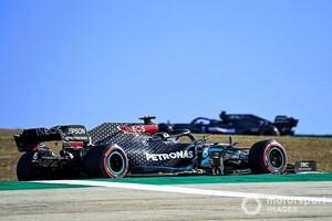 PP獲得のルイス・ハミルトン、予選Q3でミディアムタイヤを履いた理由を説明「追加の周回を走りたかった」|F1ポルトガルGP予選