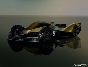 2030年のル・マンに参戦? ロータス、フルEVプロトタイプレーシングコンセプト「E-R9」を公開