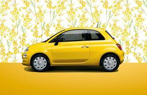 フィアット500&500Cに限定車「ミモザ2」を設定! 鮮やかなイエローのボディカラーが特徴