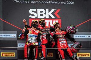 SBK第9戦カタルーニャ:ドゥカティがレース1で表彰台独占。チャンピオンシップリーダーのラズガットリオグルは未勝利に終わる