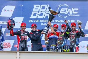 【スズキ】ワークスチーム「ヨシムラ SERT Motul」がボルドール24時間耐久レースで優勝!