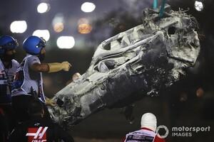 """F1バーレーンGPの大事故から生還のグロージャン、SNSでファンに無事を報告。頭部保護デバイス""""ハロ""""の存在にも感謝"""