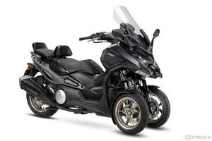 台湾キムコ「CV3」公開 同メーカー初の3輪スクーターの量産が決定