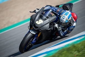 WorldSBK2021シーズンのテストにGRT Yamaha野左根航汰選手が参加