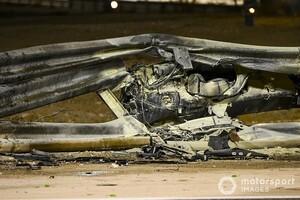 ベッテル、グロージャンの事故に衝撃「ガードレールがあんな壊れ方をしてはいけない」|F1バーレーンGP