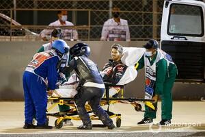 衝撃の大炎上。接触の責任はグロージャンにあり?……クビアト「最初は彼に腹を立てたけど、炎を見て気持ちが変わった」|F1バーレーンGP