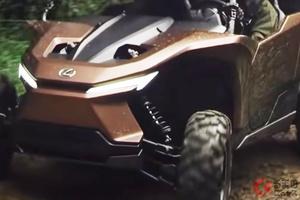 世界初公開のレクサス新型「ROV」がワイルド過ぎる!? 悪路の限界に挑む水素仕様!? その正体は