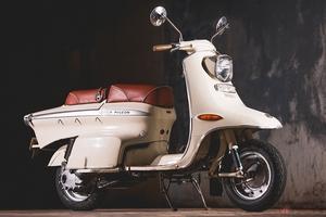 スチールボディの国産スクーター 三菱最後の2輪モデル「三菱シルバーピジョンC140」は渾身の意欲作だった