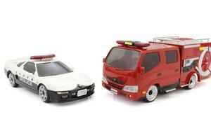 手軽に遊べる京商エッグのラジコン「ファーストミニッツ」最新作としてパトカー&消防車発売