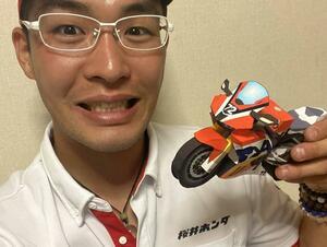 桜井ホンダ・カラーのCBR1000RR-R! 濱原颯道 選手の力作ペーパークラフト!(再投稿・笑)