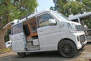 【エブリイの車中泊】バンではなく、ワゴンで作った、ポップな軽キャンピングカー