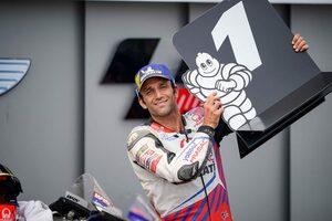 今季初ポール獲得のザルコ、最速タイム直後の転倒に「少しバンク角が深すぎた」/MotoGP第8戦ドイツGP予選トップ3コメント