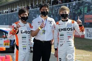 【スーパーGT】2019年王者コンビ大嶋&山下がルーキーレーシングで初優勝「モリゾウさんにタイトルで恩返しを」
