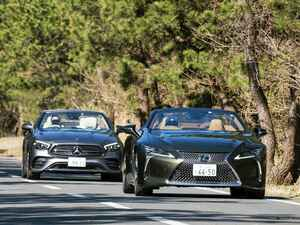 【試乗】レクサスLC500コンバーチブルとメルセデスE300カブリオレ、オープンモデル2台の伝統と革新