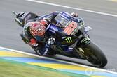 MotoGPフランス予選:クアルタラロ、難コンディションを制し母国PP。中上貴晶、フロントロウ獲得ならず7番手
