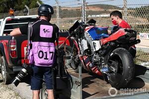 【MotoGP】ホルヘ・マルティン、ポルトガルFP3のクラッシュにより右手と右足首骨折。入院し手術へ