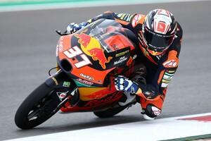 """Moto3ポルトガル決勝:ペドロ・アコスタ2連勝、16歳が才能""""本物""""をアピール。佐々木4位で表彰台逃す"""