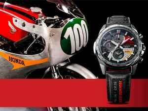 ホンダ「RC162」をモチーフとした腕時計が誕生! エディフィスとホンダレーシングがコラボしたタフネス電波ソーラーウォッチ