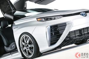 トヨタがタイムマシンをなぜ制作? 「ミライ」の2ドア&ガルウィングドア仕様が超絶凄い!