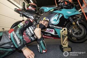 """【MotoGP】苦戦を乗り越え掴み取った""""輝く""""3勝目。クアルタラロ「人生最高の瞬間だ」"""