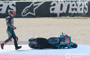 【MotoGP】エキサイトしすぎた……クアルタラロ、転倒ノーポイントは「自分のミス」と反省