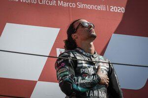 最高峰クラス初優勝のモルビデリ「キャリアのなかでとても重要な残り10周だった」/MotoGP第7戦決勝トップ3コメント