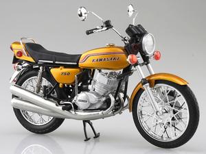 アオシマから「1/12 完成品バイク KAWASAKI 750SS MACH IV(ヨーロッパ仕様)」が4月発売予定!