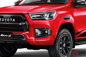 トヨタ新型4WD「ハイラックスGRスポーツ」登場!「TOYOTA」強調したド迫力顔 2.8Lディーゼル仕様と違いは?