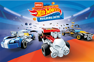 「メガコンストラックス」と夢のコラボ! ホットウィールのオリジナルカーを組み立てて遊べる子ども向けブロックが登場
