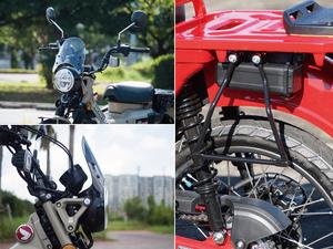 ラフアンドロードから ホンダ CT125ハンターカブ用のメーターバイザーとサドルバッグサポートが発売