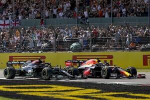 """ジョージ・ラッセル、イギリスGPでのハミルトンとフェルスタッペンの接触は、""""ルール改訂""""では避けられない"""