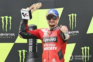 """【MotoGP】ジャック・ミラー、""""棚ぼた""""3位も予測済みだった? 走路外走行のクアルタラロ見てペナルティ確信"""