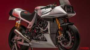 英国スズキの「Team Classic Suzuki」がK8ベースのKATANAレーサーをストリートバイク化?!