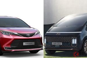 5m超えミニバン!トヨタ新型「シエナ」&ヒュンダイ新型「スターリア」が韓国でほぼ同時投入