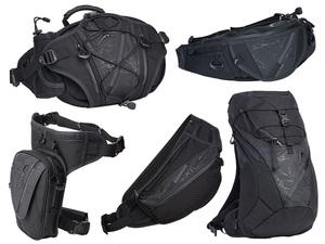 クシタニのバイク用バッグに同色迷彩柄の限定モデル「ブラックアウト」シリーズ5アイテムが登場!