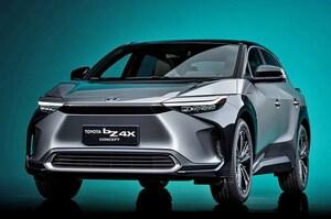 【トヨタ EVシリーズ発表】第1弾「bZ4X」、スバルと共同開発 大型セダン級の車内空間 上海モーターショー2021