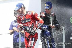【MotoGP】遠かったクアルタラロ、遠かった初優勝。2位フランチェスコ・バニャイヤ「予選タイム抹消で勝つチャンスを失った」|ポルトガルGP