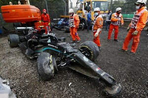 イモラで衝撃の高速クラッシュ。ボッタスは「明らかにラッセルのミス」だと主張|F1エミリア・ロマーニャGP
