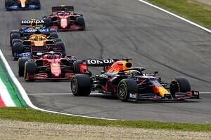 リスタート直前にフェルスタッペンがあわやスピン……ルクレールはあそこで追い抜くべきだった?|F1エミリア・ロマーニャGP