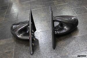 「R34スカイライン乗り待望の新作エアロミラー誕生」ドライカーボン製&グループAオマージュ形状で勝負!