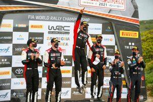 トヨタ、サルディニアで今季3回目のワン・ツー・フィニッシュ。WRC両選手権首位を堅守