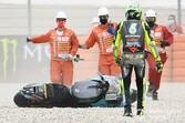 【MotoGP】ロッシ「もっといいレースを期待していたのに……」調子上向いたカタルニアGPでの転倒リタイアに悔しさ