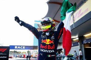 ペレス、トラブルを抱え薄氷の勝利「リタイア寸前。最後の2周は本当に大変だった」レッドブル・ホンダ/F1第6戦