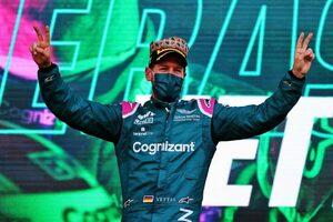 ベッテル移籍後初表彰台「予選11番手でスタートタイヤを選べたことがカギに」アストンマーティン/F1第6戦