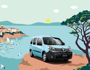 南仏の青い空や海をイメージしたルノー・カングー「ペイサージュ」が200台限定発売