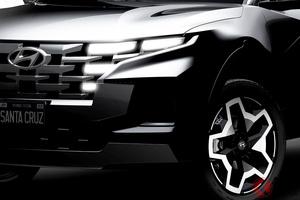 未来感溢れるキラ顔4WD! 新型「サンタクルーズ」2021年4月中旬に世界初公開! 米国で生産へ