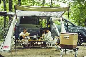 クルマとテントを専用の吸盤で簡単連結! コールマンが提案する新キャンプスタイル