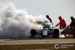 アルファタウリ・ホンダのガスリー、FP2で炎上! 迫るペナルティの危機「停まる5秒前に、全ての電源を失った」|F1ポルトガルGP金曜