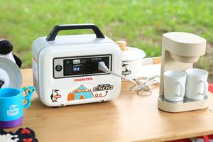 ブービーバードをあしらったデザインがかわいいホンダのポータブル蓄電機「LiB-AID E500×CHUMS」